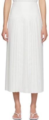 The Row White Magdita Skirt