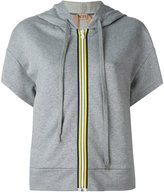 No.21 zipped short sleeved hoodie - women - Cotton - 38
