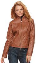 Gallery Women's Faux-Leather Moto Jacket
