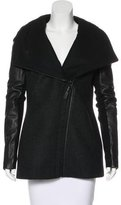 Mackage Leather-Accented Wool Coat