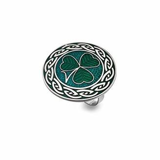 Sea Gems Irish Shamrock Green Enamel Scarf Ring