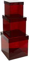 Pols Potten Set of 3 Acrylic Boxes - Red