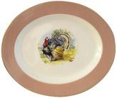 One Kings Lane Vintage Midcentury Tom Turkey Platter - Osprey Blu - pink/white/multi