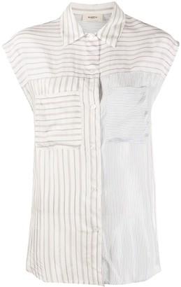 Barena Sleeveless Striped Printed Shirt