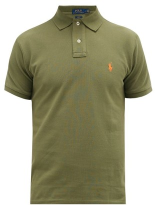 Polo Ralph Lauren Slim-fit Cotton-pique Polo Shirt - Mens - Green