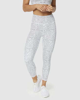 Muscle Republic - Women's White 7/8 Tights - Inspire Speckle 7-8 Leggings - Size One Size, L at The Iconic