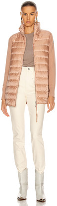 Moncler Long Cardigan Tricot Jacket in Dark Pink | FWRD