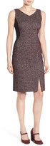 Classiques Entier V-Neck Tweed & Solid Knit Sheath Dress