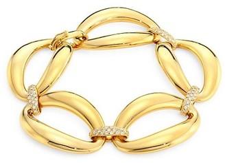Alberto Milani Via Senato 18K Gold & Diamond Link Bracelet