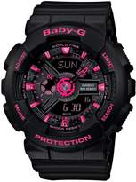 Baby-G Street Neon Black & Pink Resin Bracelet Ana-Digi Watch