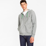 Paul Smith Men's Grey Organic-Cotton Zip-Front Zebra Hoodie