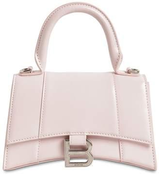 Balenciaga XS HOURGLASS LEATHER TOP HANDLE BAG