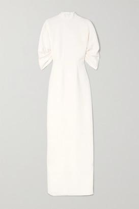 Emilia Wickstead Sharonella Open-back Wool-crepe Dress - Ivory