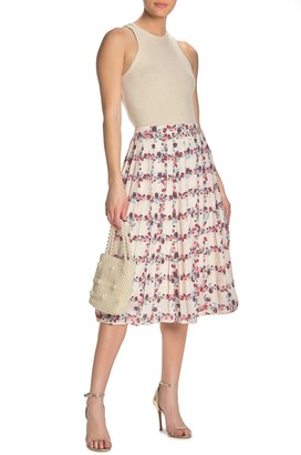 Endless Rose Fence of Roses Pleated Skirt