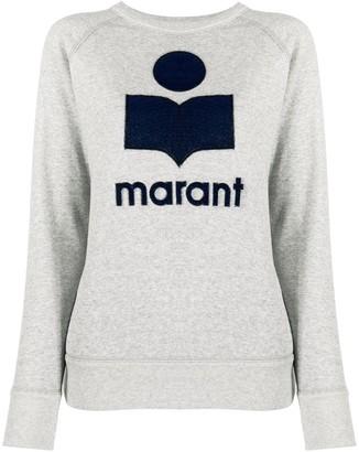 Etoile Isabel Marant Milly velvet-logo print sweatshirt