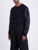 Juun.J JUUN J MA-1-sleeves wool jumper