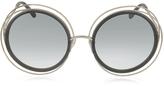 Chloé CARLINA CE 120S Round Oversized Acetate & Metal Women's Sunglasses