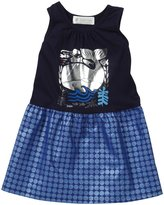 Lucky Jade Nautical Tank Dress (Toddler/Kid) - Navy-2