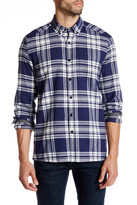 Kenneth Cole New York Long Sleeve Button Down Collar Plaid Flannel Shirt