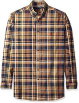 U.S. Polo Assn. Men's Big and Tall Long Sleeve Sporty Plaid Poplin Woven Shirt