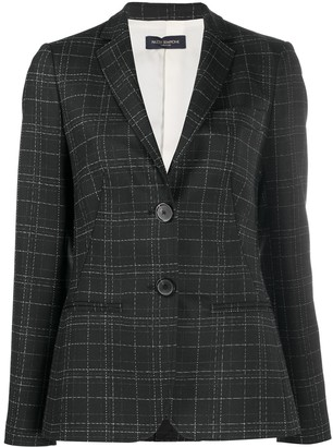 Piazza Sempione Checked Fitted Blazer
