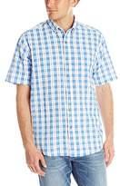 Cutter & Buck Men's Seward Seersucker Plaid Shirt