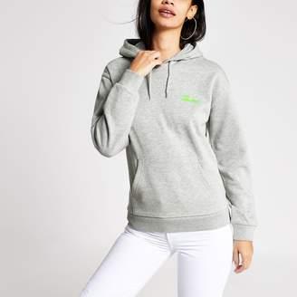 River Island Womens Tee & Cake Grey 'Lost weekends' hoodie