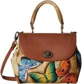 Anuschka 624 Medium Flap Satchel Handbags