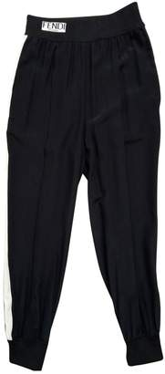 Fendi Black Silk Trousers