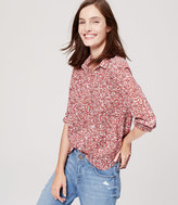 LOFT Petite Cotton Button Down Shirt