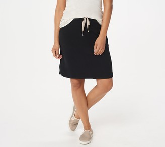 Logo by Lori Goldstein LOGO Lounge by Lori Goldstein Cotton French Terry Skirt