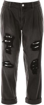 MICHAEL Michael Kors Boyfriend Jeans With Sequins