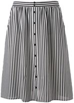 Women's Studio 253 Gauze Button-Front Skirt