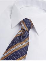 M&S Collection Pure Silk Striped Tie