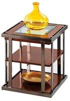 Progressive Medalist End Table - Black Nickel/Burl Furniture