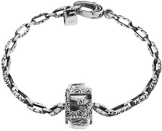 Gucci Bracelet with Square G cube in silver