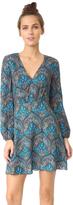 Alice + Olivia Cary Deep V Neck Flare Dress