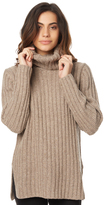 Rusty Heckle Hi Neck Knit Natural