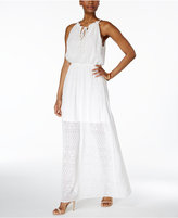 Betsey Johnson Ruffled Blouson Maxi Dress