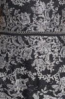 David Meister Metallic Lace Sheath Dress