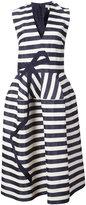 DELPOZO striped structured dress