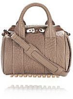 Alexander Wang Mini Rockie In Pebbled Latte With Rose Gold