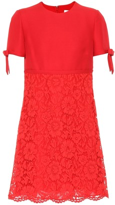 Valentino Lace and crepe minidress