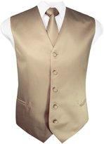 Guytalk Mens 3 Piece Tuxedo Vest for Formal Party, Wedding, Prom, Bartender XXXXL