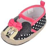 "Disney Minnie Mouse Baby Girls' ""Glittery Contrast Espadrille"" Booties"