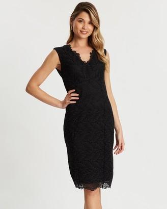 Wallis Lace Scallop Dress