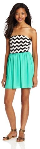 My Michelle Sequin Hearts by Womens 33 Inch Strapless Dress