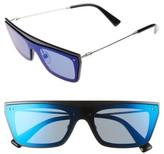 Valentino Women's Rockstud 50Mm Rectangular Sunglasses - Green