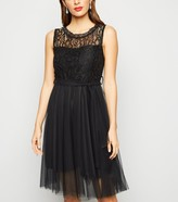 New Look Urban Bliss Lace Mesh Skater Dress