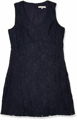 Lark & Ro Women's Sleeveless Chunky Lace A-Line Dress